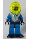 Minifig No: aqu030  Name: Hydronaut 1 with Black Flippers
