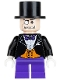 Minifig No: bat010  Name: The Penguin, Dark Purple Short Legs
