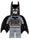 Minifig No: bat024  Name: Batman, Dark Bluish Gray Suit with Black Mask