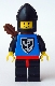 Minifig No: cas005  Name: Black Falcon - Black Legs with Red Hips, Black Chin-Guard, Quiver