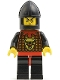 Minifig No: cas044  Name: Knights' Kingdom I - Robber 2, Black Chin-Guard