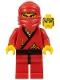 Minifig No: cas050new  Name: Ninja - Red (Reissue)
