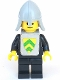 Minifig No: cas086s  Name: Classic - Yellow Castle Knight Black - with Vest Stickers