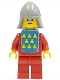 Minifig No: cas088s  Name: Classic - Yellow Castle Knight Red - with Vest Stickers