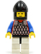 Minifig No: cas145  Name: Scale Mail - Red with Blue Arms, White Legs with Black Hips, Black Chin-Guard