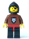Minifig No: cas251  Name: Wolf People - Wolfpack 2 with Brown Arms, Black Hood, Black Plastic Cape