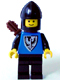 Minifig No: cas254  Name: Black Falcon - Black Legs, Black Chin-Guard, Quiver (new style torso with pointier bottomed shield)
