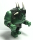 Minifig No: cas364  Name: Big Figure - Fantasy Era - Troll, Sand Green with Pearl Dark Gray Armor and 5 White Horns