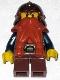 Minifig No: cas390  Name: Fantasy Era - Dwarf, Dark Orange Beard, Copper Helmet with Studded Bands, Dark Blue Arms