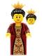 Minifig No: cas469  Name: Kingdoms - Queen with Black Hair