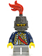 Minifig No: cas476  Name: Red Sash, Helmet Closed, Light Bluish Gray Legs Short (9349)