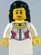 Minifig No: cas477  Name: Kingdoms - Princess, Black Hair