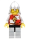 Minifig No: cas497  Name: Kingdoms - Lion Knight Quarters, Helmet with Neck Protector, Crooked Smile and Scar