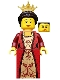 Minifig No: cas504  Name: Kingdoms - Queen with Dark Brown Hair
