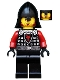 Minifig No: cas518a  Name: Castle - Dragon Knight Scale Mail with Dragon Shield and Shoulder Armor, Helmet with Neck Protector, Angry Scowl