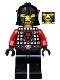 Minifig No: cas528  Name: Castle - Dragon Knight Scale Mail with Dragon Shield, Cheek Protection Helmet, Missing Tooth Open Grin