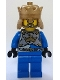 Minifig No: cas539  Name: Castle - King's Knight Breastplate with Crown and Chain Belt, Crown