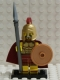 Minifig No: col018b  Name: Spartan Warrior with all Accessories and Stand