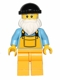 Minifig No: col037a  Name: Fisherman (Black Cap)