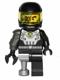 Minifig No: col038a  Name: Space Villain - Flat Silver Pirate Peg Leg