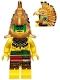 Minifig No: col098  Name: Aztec Warrior