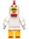 Minifig No: col135  Name: Chicken Suit Guy