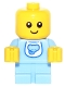 Minifig No: col260  Name: Baby - Bright Light Blue Body with Elephant Bib - Minifig only Entry