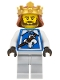 Minifig No: col261  Name: Warrior - King with Fleur de Lis Vest, Crown, Dark Brown Beard