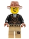 Minifig No: col264  Name: Warrior - Male with Bandoliers, Dark Tan Legs with Patch, Fedora Hat