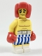 Minifig No: col304  Name: Boxer, Black Eye, Blue and White Striped Trunks