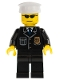 Minifig No: cty0094  Name: Police - City Suit with Blue Tie and Badge, Black Legs, Sunglasses, White Hat