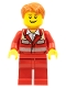 Minifig No: cty0272  Name: Paramedic - Red Uniform, Male, Tousled Hair