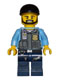 Minifig No: cty0360a  Name: Police - LEGO City Undercover Elite Police Officer 1 - Black Beard