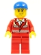 Minifig No: cty0394  Name: Paramedic - Red Uniform, Male, Blue Short Bill Cap