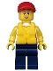 Minifig No: cty0414  Name: Coast Guard City - Dinghy Passenger Male