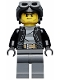 Minifig No: cty0456  Name: Police - City Bandit Male with Black Stubble and Aviator Cap