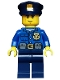 Minifig No: cty0458  Name: Police - City Officer, Gold Badge, Police Hat, Cheek Lines