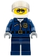 Minifig No: cty0487a  Name: Police - City Helicopter Pilot, Sunglasses, Black Eyebrows
