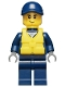 Minifig No: cty0488  Name: Police - City Officer, Life Preserver