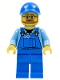 Minifig No: cty0544  Name: Overalls with Tools in Pocket Blue, Blue Cap with Hole, Beard and Glasses