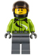 Minifig No: cty0614  Name: Motorcyclist - Ambulance Plane Passenger