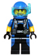 Minifig No: cty0617  Name: Scuba Diver, Male, Blue