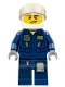 Minifig No: cty0632  Name: Police - City Helicopter Pilot, Dark Blue Jumpsuit
