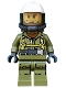 Minifig No: cty0686  Name: Volcano Explorer - Male Worker, Suit with Harness, Construction Helmet, Breathing Neck Gear with Yellow Airtanks, Trans-Black Visor, Stubble
