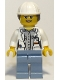 Minifig No: cty0693  Name: Volcano Explorer - Female Scientist, White Construction Helmet with Long Hair