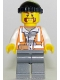 Minifig No: cty0701  Name: Police - City Bandit Male, Black Knit Cap, Moustache Handlebar