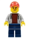 Minifig No: cty0728  Name: ATV Driver, Male