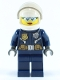 Minifig No: cty0733  Name: Police - City Helicopter Pilot Female, Light Blue Glasses