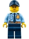 Minifig No: cty0748  Name: Police - City Shirt with Dark Blue Tie and Gold Badge, Dark Tan Belt with Radio, Dark Blue Legs, Dark Blue Cap with Hole