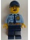 Minifig No: cty0756  Name: Police - City Shirt with Dark Blue Tie and Gold Badge, Dark Tan Belt with Radio, Dark Blue Legs, Dark Blue Cap with Hole, Brown Bushy Moustache